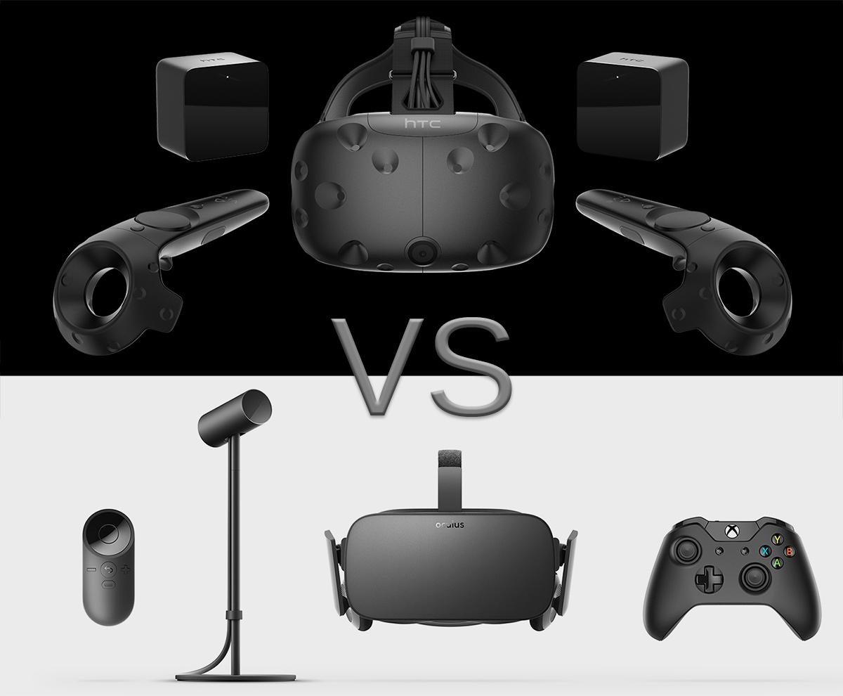 Comparatif des casques de réalité virtuelle HTC Vive et Oculus Rift